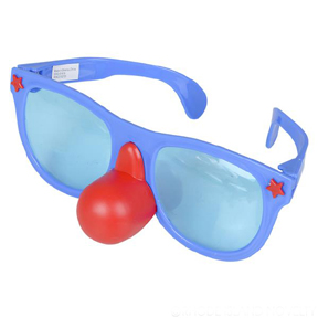Jumbo Clown Glasses and Red Nose