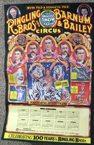 1985 Ringling Bros. and Barnum & Bailey poster